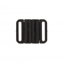 fastener sport bra - black square