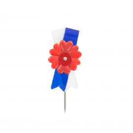 Broche cocarde bleu, blanc, rouge