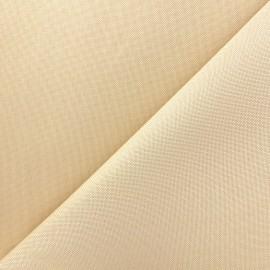 Tissu toile polyester - crème x 10cm