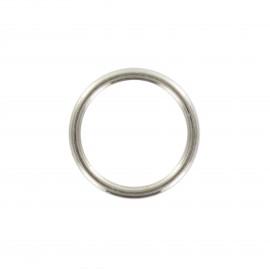 ring for bra / suspender straps - silver