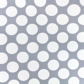 Simili cuir Pois - gris clair x 10cm