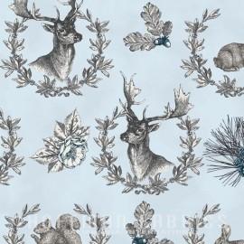 ♥ Coupon 225 cm X 110 cm ♥ Tissu Hoffman fabrics Rustic Refined - ice blue