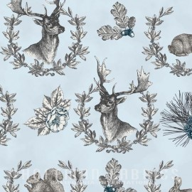 Hoffman fabrics Rustic Refined - ice blue x 42cm