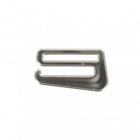 Metal aspect detachable slider hooks for bra - silver
