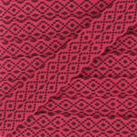 Biais aztec 20 mm - fuchsia x 1m