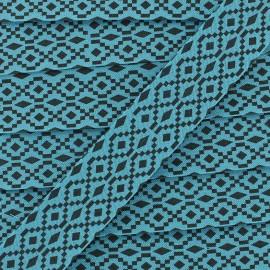 Biais aztec 20 mm - bleu x 1m