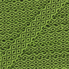 Biais aztec 20 mm - vert x 1m