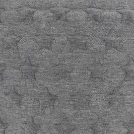Tissu jacquard jersey Stars - gris foncé x 10cm