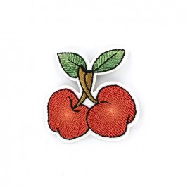 Iron on patch double cherry