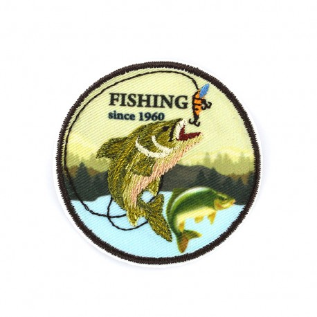 iron on patch Fishing since 1960