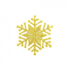 Iron on patch ice crystal - gold