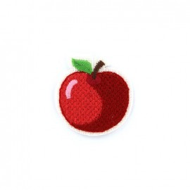 iron on patch canvas fruit - apple