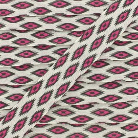 Biais Tikal 20 mm - rose x 1m