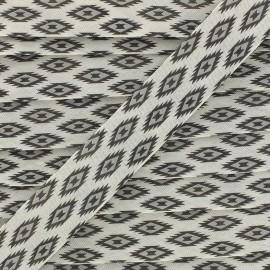 Biais Tikal 20 mm - gris x 1m