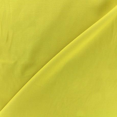 Tissu viscose chemisier - jaune banane x 10cm