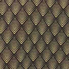 Tissu jacquard tissé teint Cachou - gold x 10cm
