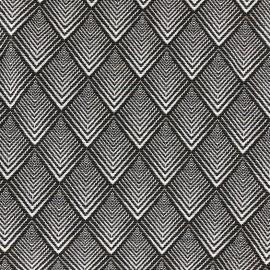Tissu jacquard tissé teint Cachou - graphite x 10cm