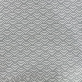 Cretonne Cotton Fabric Sushis - light grey x 10cm