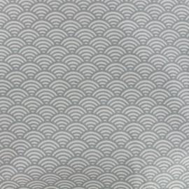 Tissu coton cretonne Sushis - gris clair x 10cm