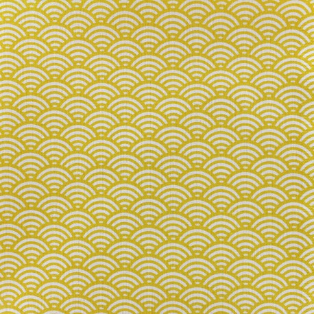 Cretonne Cotton Fabric Sushis - yellow x 10cm