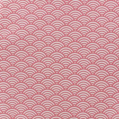 Tissu d 39 ameublement tissu coton cretonne sushis rose x 10cm - Edmond petit tissus d ameublement ...