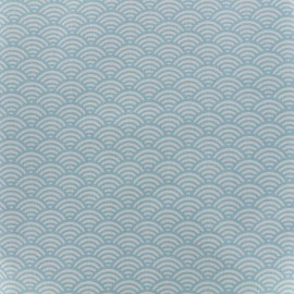 Cretonne Cotton Fabric Sushis - sky x 10cm