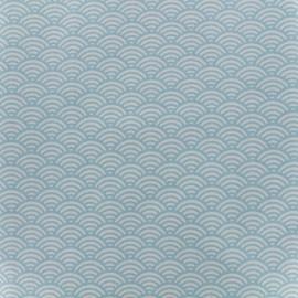 Cretonne Cotton Fabric Sushis - sky x 10cm