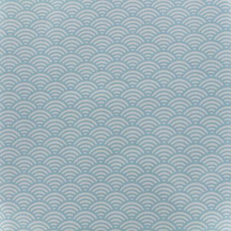Tissu coton cretonne Sushis - ciel x 10cm