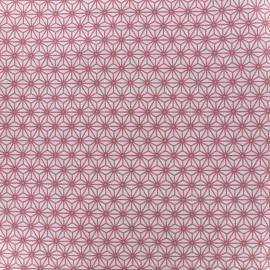 Cretonne cotton Fabric Saki - ivory/pink x 10 cm