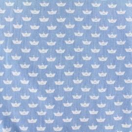 Tissu Jeans fluide Origami - blanc x 10cm