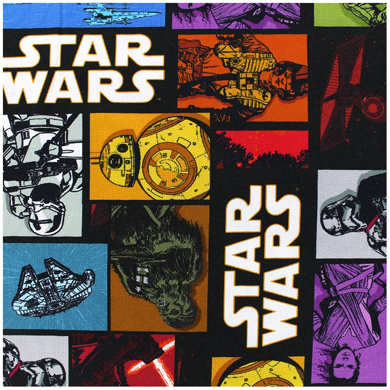 b5b6fc07447 Jersey fabric Star wars comics - black x 33cm - Ma Petite Mercerie