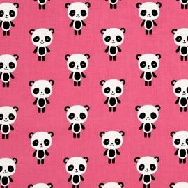 Tissu coton Urban zoologie Panda - pink x 15cm