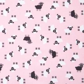 Cotton fabric Urban zoologie minis Sheep - petal x 20cm