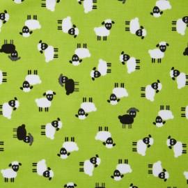 Cotton fabric Urban zoologie minis Sheep - green x 20cm