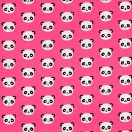 Tissu coton Urban zoologie minis Panda - pink x 10cm