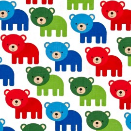 Woodland Pals 2 fabric Bear - primary x 10cm