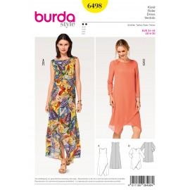 Dress Two Layered Wrap Look Burda Sewing Pattern N°6498