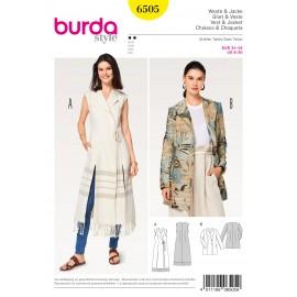 Patron Gilet veste blazer double boutonnage Burda N°6505