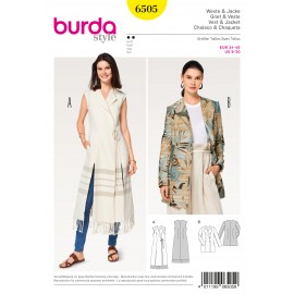 Vest/Waistcoat Jacket Blazer Double Breasted Burda Sewing Pattern N°6505