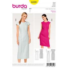 Patron Robe fourreau coutures de découpe Burda N°6510