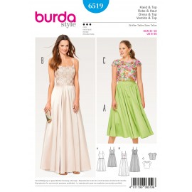 Strap Dress Lace Top Burda Sewing Pattern N°6519