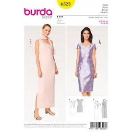 Patron Robe asymétrique robe à une seule épaule  Burda N°6523
