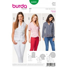 Blouse Shawl Collar  Burda Sewing Pattern N°6533