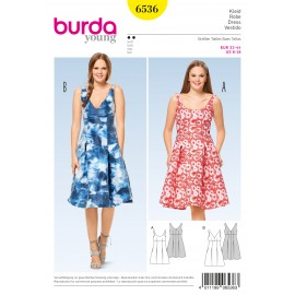 Patron robe à bretelles taille haute Burda N°6536