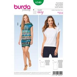 Patron Top robe sans manches Burda N°6540
