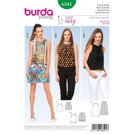 Top Dress Sleeveless   Burda Sewing Pattern N°6541