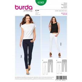 Skinny Pants/Trousers Jeans Burda Sewing Pattern N°6543