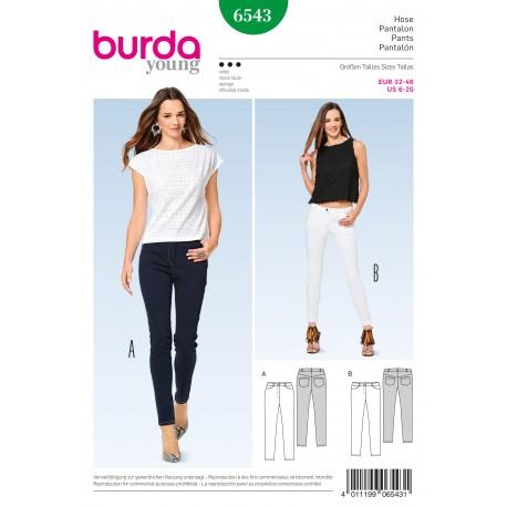 Patron Femme Pantalon étroit jean Burda N°6543