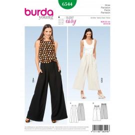 Patron Femme Pantalon jambes amples Burda N°6544