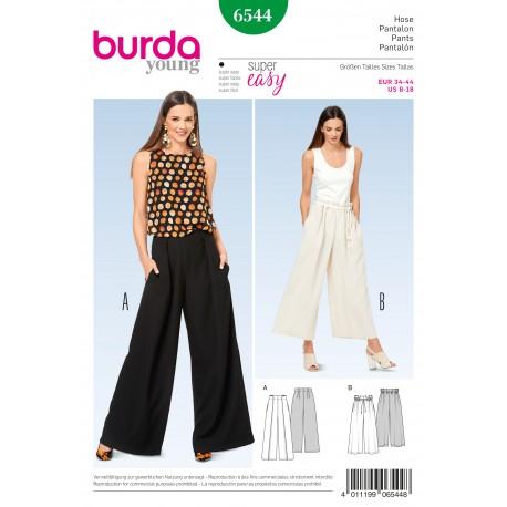 Pants/Trousers Wide Legs Burda Sewing Pattern N°6544